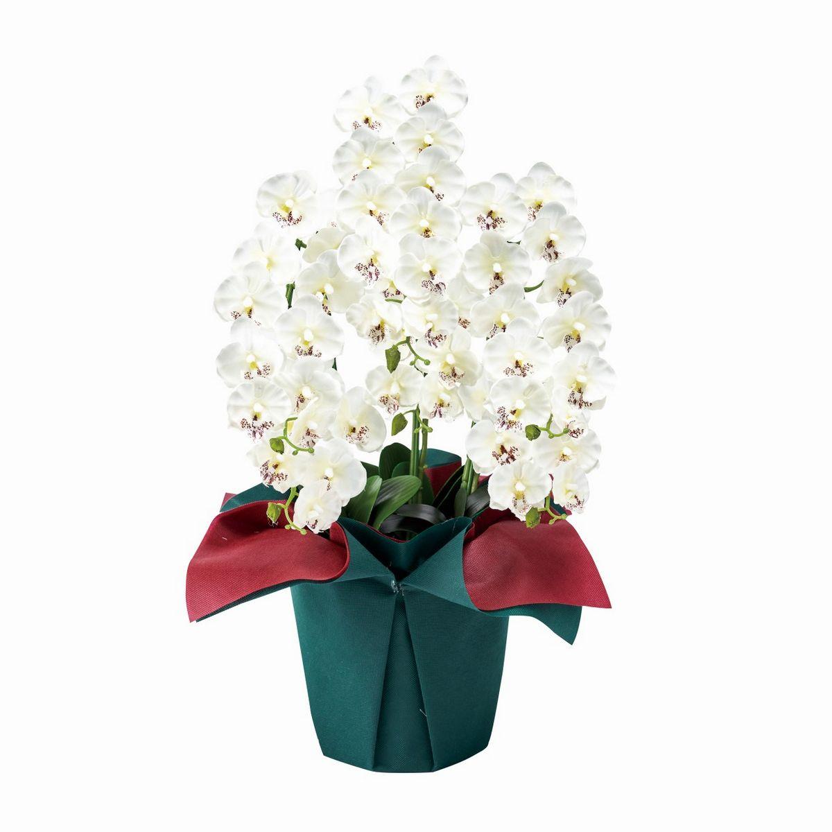 【人工観葉植物】ピュアオーキッド 6本立て 光触媒/ZV008060【01】【取寄】