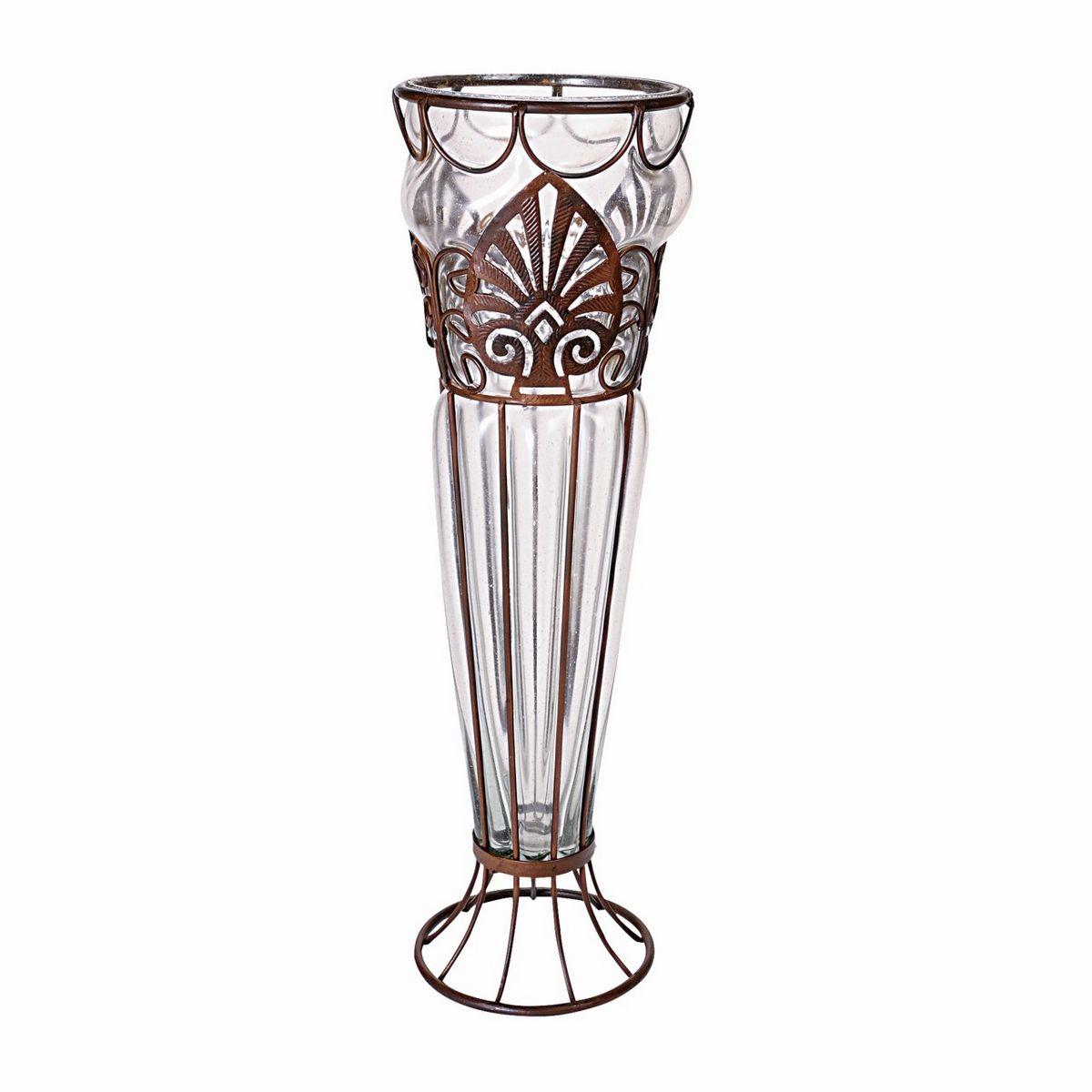 MetalglassVaseトールリーフ/CT0PGC17【01】【取寄】