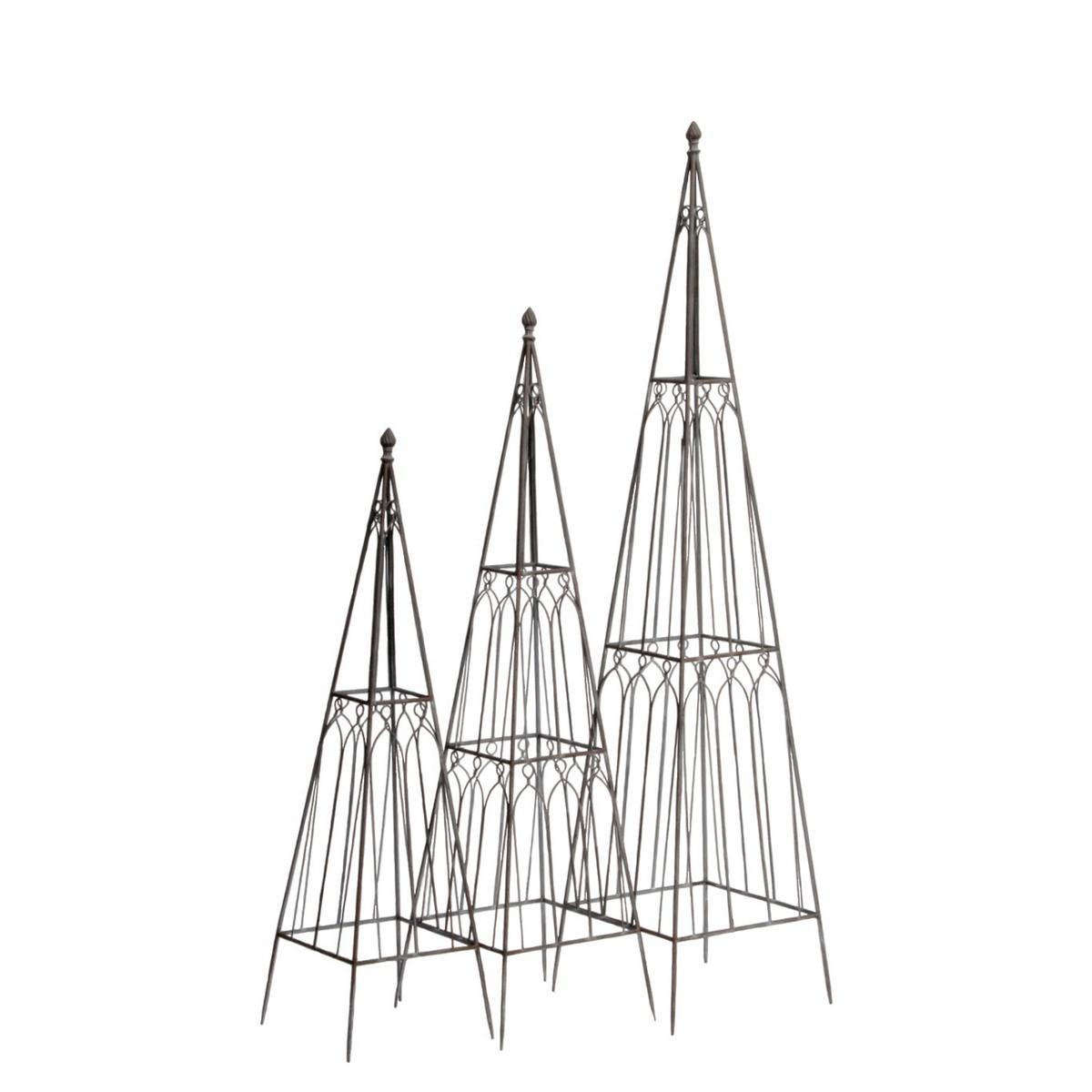 大同クラフト/タワー型トピアリーL ブラウン/YTT20-L145【01】【取寄】[6個]