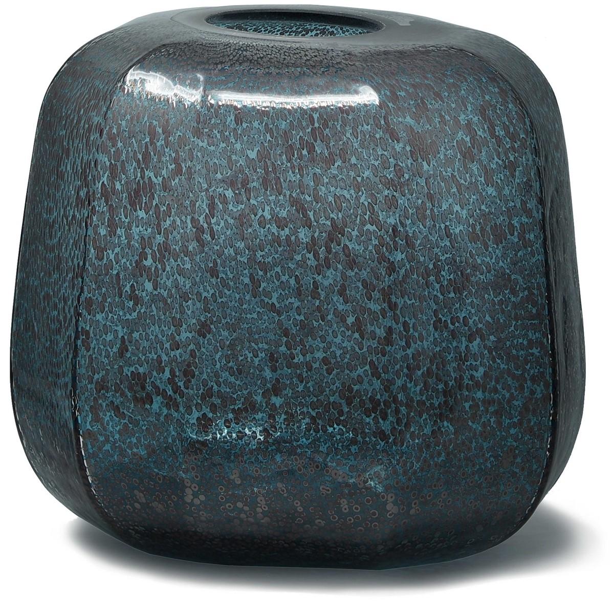 PTMD/Rowan aqua Glass vase round/680100【01】【取寄】