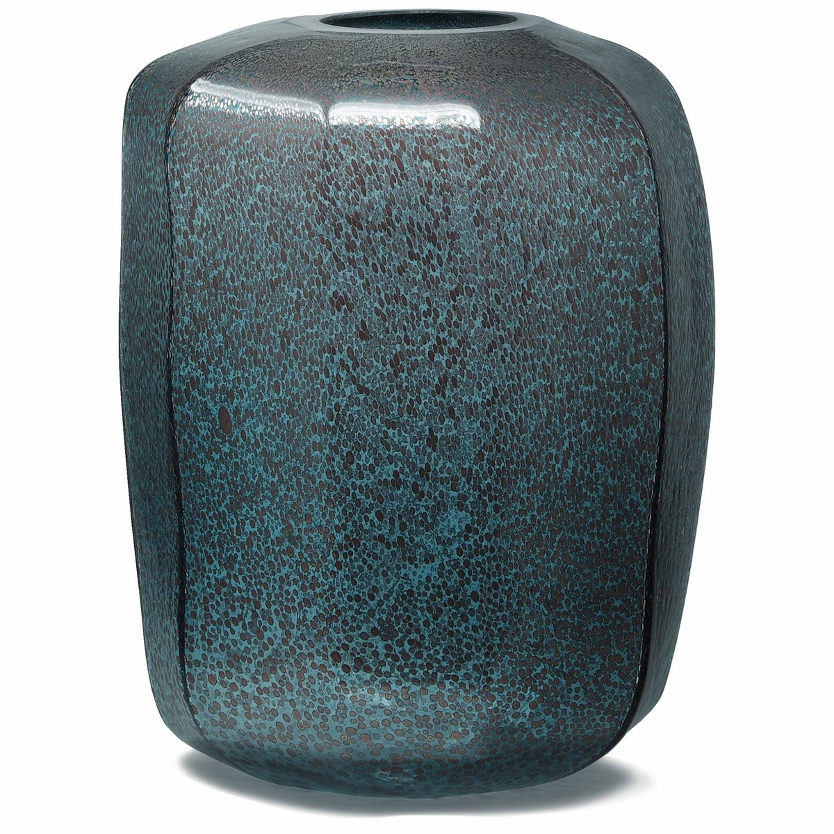 PTMD/Rowan aqua Glass vase round/680101【07】【取寄】