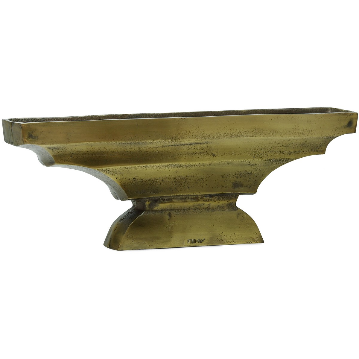 PTMD/Alu Gold brass trough vase/659816【01】【取寄】