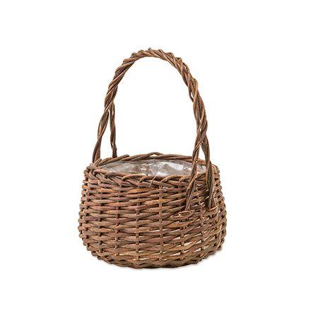 花器 新着セール リース 花瓶 バスケット 花かご 手作り 材料 ラウンドL 即日 11657花器 LIVING POSH 新色追加して再販 ガーデンバスケット