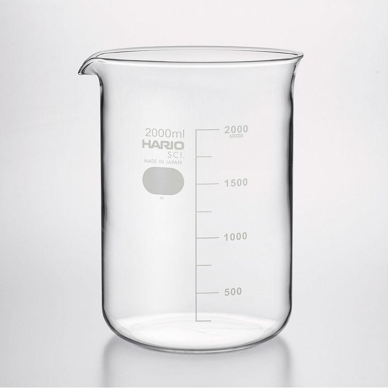 雑貨 キッチン用品 調理器具 手作り 材料 待望 HARIO テレビで話題 07 6個 取寄 ビーカー2L B-2L SCI