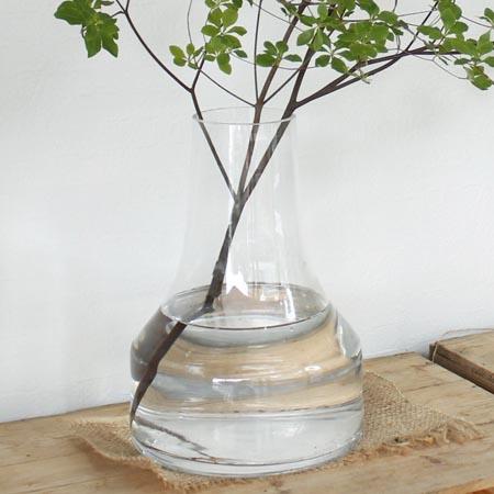 花器 花瓶 ガラス おしゃれ インテリア セール価格 一輪挿し ラッピング無料 即日 ボブクラフト ガラス花器 ファゴット 材料 L リース 650-1C 手作り