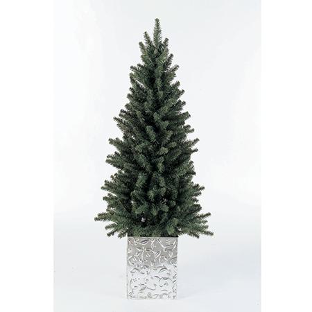 【造花】アスカ/M.コンテナスリムツリー/AX66772【01】【01】【取寄】《 店舗ディスプレイ クリスマス飾り クリスマスツリー 》