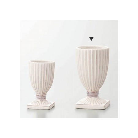 花器 花瓶 陶器 おしゃれ レビューを書けば送料当店負担 インテリア 一輪挿し 即日 クレイ 120-229-100 手作り WHITE femi-cla 材料 リース ランキングTOP10 陶器花器