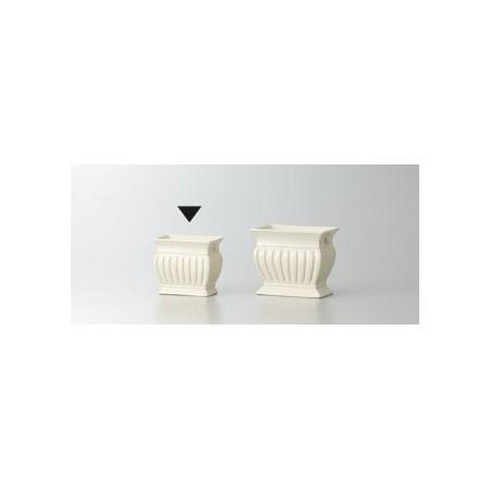 花器 花瓶 陶器 おしゃれ インテリア 一輪挿し クレイ/CLASSIC VASE IVORY/122-925-310【01】【01】【取寄】 花器、リース 花器・花瓶 陶器花器 手作り 材料