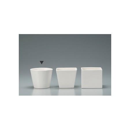 新作送料無料 花器 花瓶 陶器 おしゃれ インテリア 一輪挿し クレイ カラーベースラウンドL 手作り WHITE 取寄 144-764-100 リース 材料 70%OFFアウトレット 陶器花器 01