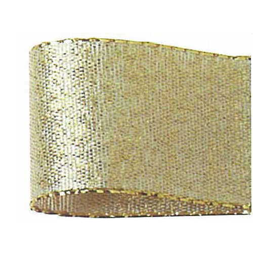リボン メタリックリボン プレーンメタリックリボン 手作り 材料 正規店 青山リボン 01 30-346-4 #004 取寄 ゴールデンメタリック 25X25 1着でも送料無料