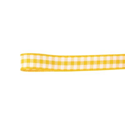リボン 人気 おすすめ パターンリボン チェック柄パターンリボン 手作り 格安店 材料 青山リボン ウーブンギンガムチェック 01 30-432-4 #004 取寄 10X10