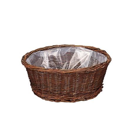花器 花瓶 バスケット 花かご おしゃれ インテリア てづくり 11-744 取寄 手作り 限定価格セール 安い 激安 プチプラ 高品質 材料 リース 01 ブラックウイローラウンドバスケットL