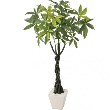 【直送】【人工樹木】YDM/パキラポット(L) /GLA1197※返品・代引不可【01】【01】《 造花(人工観葉植物) 人工観葉植物「は行」 パキラ 》