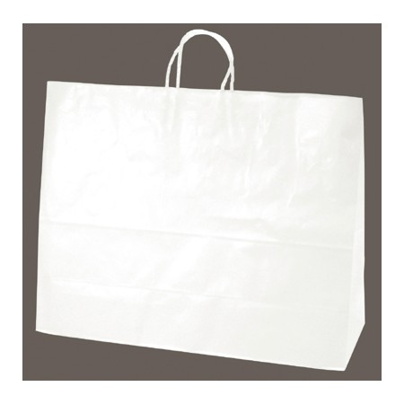 ササガワ(タカ印)/手提げバッグ 白無地 超特大横長 50枚袋入/50-5700【01】【取寄】