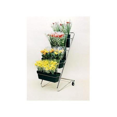 【直送】セロン/CFスタンドIタイプ ロイヤルグリーン/F2235ロイヤルグリーン【01】《 花器、リース 花スタンド、フラワースタンド 大型スタンド 》