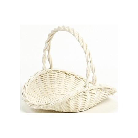 花器 花瓶 バスケット(花かご) おしゃれ インテリア SG Wonder zone/白柳浅皿手付L/307-416W【01】【取寄】花器、リース 花器・花瓶 バスケット(花かご) 手作り 材料