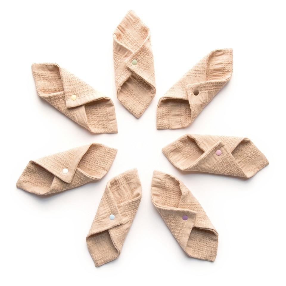 附帶華布的有機棉布的布餐巾抓拍的班車S尺寸6張★喜歡的金魚草按鈕的顔色能選的♪合算并且★!/05P03Dec16