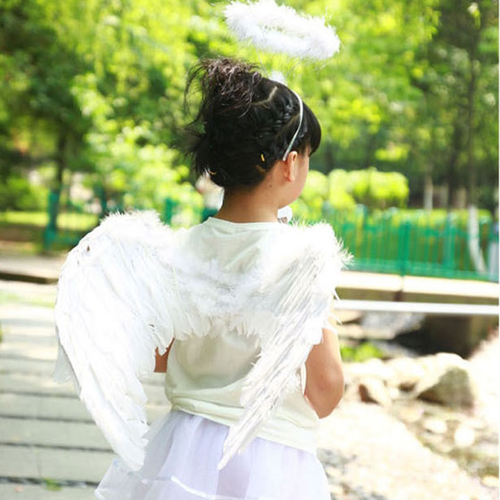 ada012e3448c Angel fairy skirts and Butterfly cosplay Kids Halloween Angel Wings feather  fairy Butterfly costume costume fancy ...