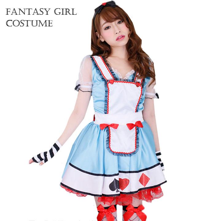 Cosplay Halloween Alice in Disney costume gloves Pannier with Wonderland  Alice costume dress up fantasy Halloween