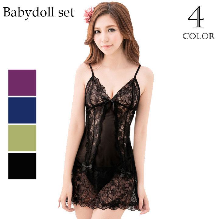 ce9d3a555 Dress ribbon color baby doll sexy lingerie sexy lingerie outer camisole  inner house coat sexy lingerie ...