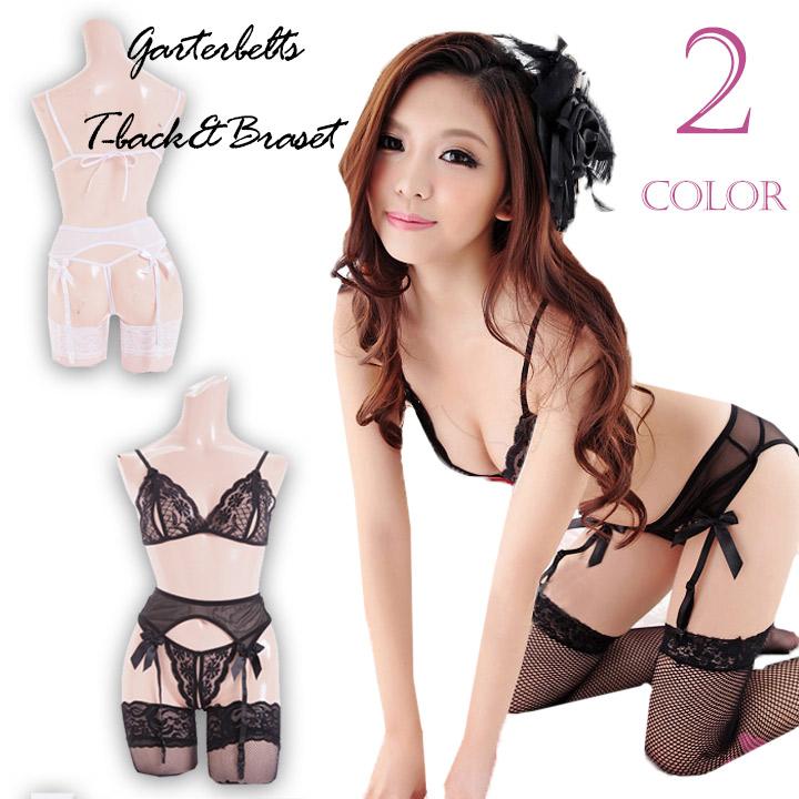330bd9b6f15 With garter belt T back  amp  string bra sexy lingerie sexy lingerie bra  shorts black ...