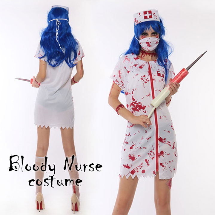 Hanahana Cosplay Lingerie Great Halloween Zombie Nurse Splatter