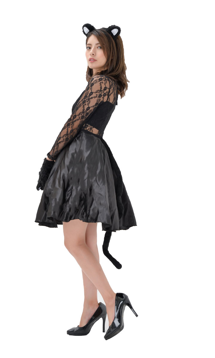 hanahana cosplay lingerie: halloween harrow in for the cat costume