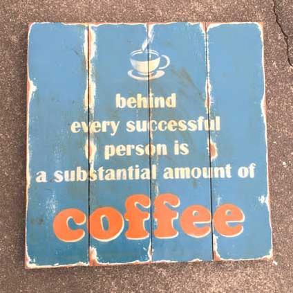 アンティーク調 ジャンク ウッドアート coffee(1018)
