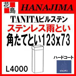 雨とい 雨樋 タニタハウジングウェア 『タニタ ステンレス雨とい ビルステン 角たてとい 123x73』 表面仕上:ヘアラインハードコート ステンレス質感 SG-2203 123x73系 L4000 材厚1.0【代引不可】