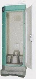 ★【ハマネツ】 屋外仮設トイレ<TU-V1F4 ポンプ式簡易水洗タイプ 和式 > PE ポリエチレン製 全ドアタイプ W840XD1550XH2470