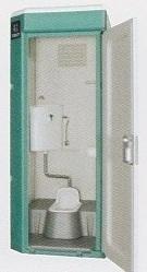 ★【ハマネツ】 屋外仮設トイレ<TU-V1J 水洗タイプ 和式 > PE ポリエチレン製 全ドアタイプ W840XD1160XH2120