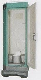 ★【ハマネツ】 屋外仮設トイレ<TU-V1 非水洗タイプ 和式 > PE ポリエチレン製 全ドアタイプ W840XD1550XH2470