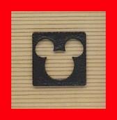 ★【送料無料】 ディズニー キャラクターシリーズ 【ミッキーマウス シルエット シングルタイプ】アルミ製 外装エクステリア 外壁・玄関近く・門のブロックや柱に モチーフにした壁飾り 装飾部材 Mickey  Disney】