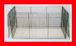 ★<送料無料>折りたたみ式ゴミ箱 ストッパー付き1200タイプ【CS-25 約420L】 スチール製  幅1250X高さ660X奥行740ミリ モスグリーン色 ゴミ収集庫・ごみ箱