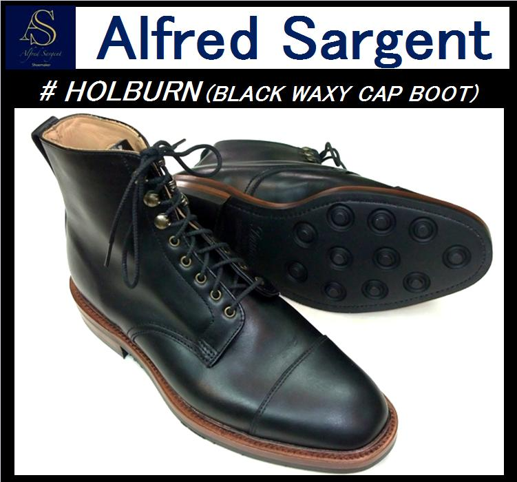 #HOLBURN(BLACK WAXY CAP BOOT)