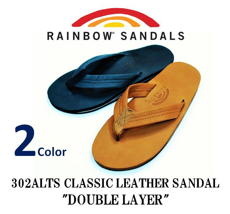 送料無料 RAINBOW 期間限定の激安セール SANDALS レインボーサンダル -#302ALS CLASSIC LEATHER SANDAL クラシックレザーサンダル LAYER