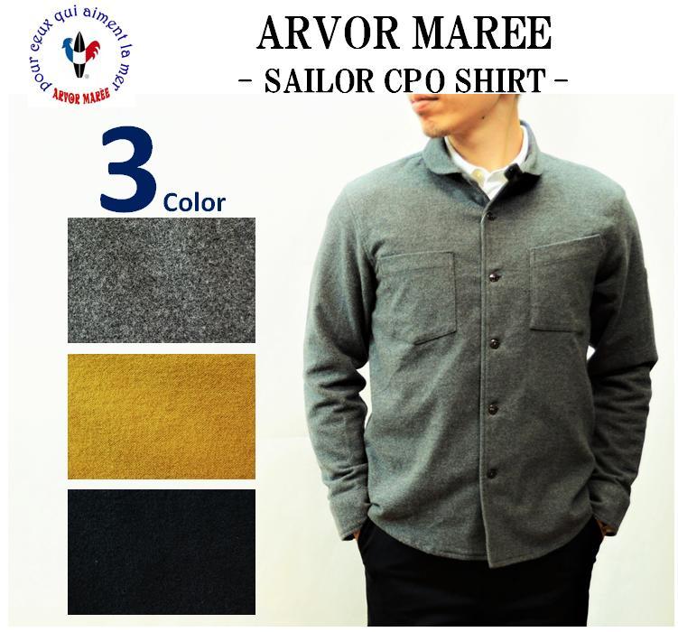 【送料無料】【ARVOR MAREE/アルボーマレー】-SAILOR CPO SHIRT