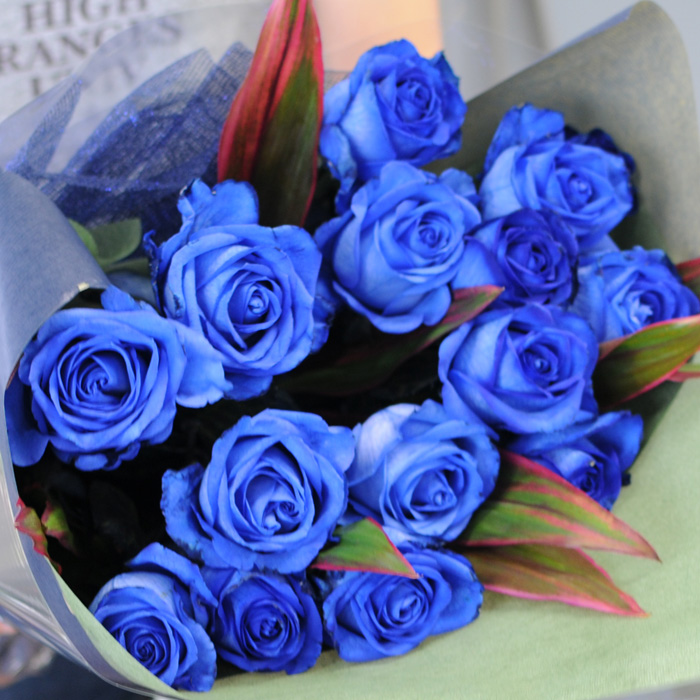 hanako bouquet of blue roses birthday 20 memorial day presentation