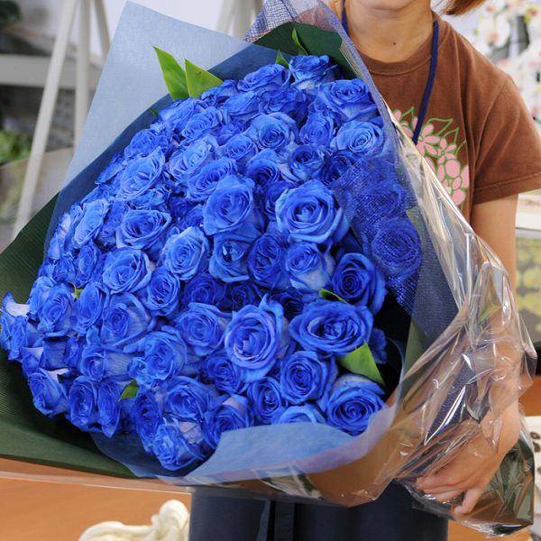 hanako | Rakuten Global Market: Bouquet of blue roses, birthday 100 ...