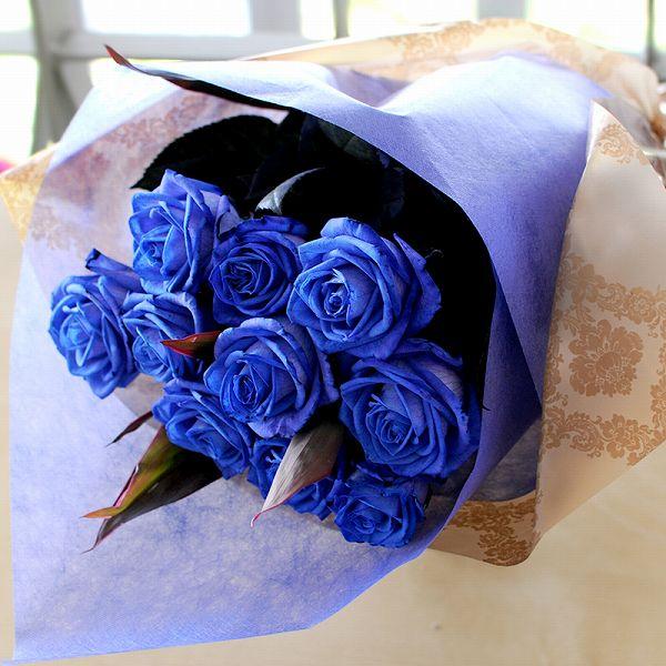 hanako | Rakuten Global Market: Blue Flower Gift roses 10 birthday ...