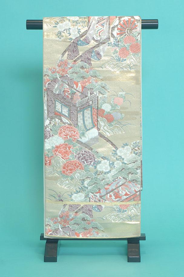 留袖用着物レンタルフルセット用帯(留袖用):obi017【レンタル】