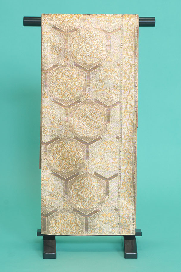 留袖訪問着レンタルフルセット用帯:obi023〔帯〕〔袋帯〕〔正絹〕〔留袖〕〔訪問着〕【レンタル】