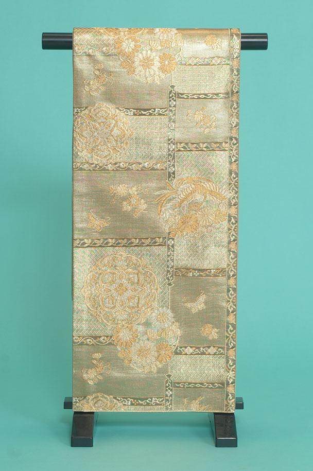 留袖訪問着レンタルフルセット用帯:obi026〔帯〕〔袋帯〕〔正絹〕〔留袖〕〔訪問着〕【レンタル】
