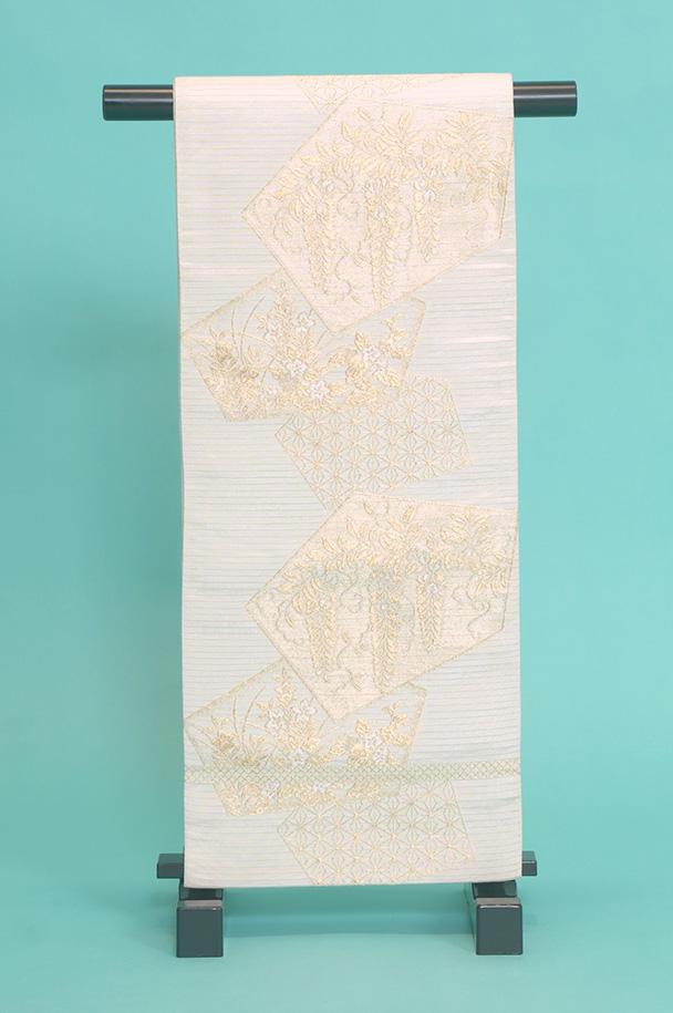 留袖訪問着レンタルフルセット用帯(夏物):obi065 〔帯〕〔袋帯〕〔正絹〕〔留袖〕〔訪問着〕【レンタル】