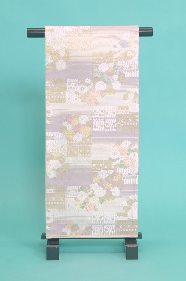 留袖訪問着レンタルフルセット用帯(夏物):obi070 〔帯〕〔袋帯〕〔正絹〕〔留袖〕〔訪問着〕【レンタル】