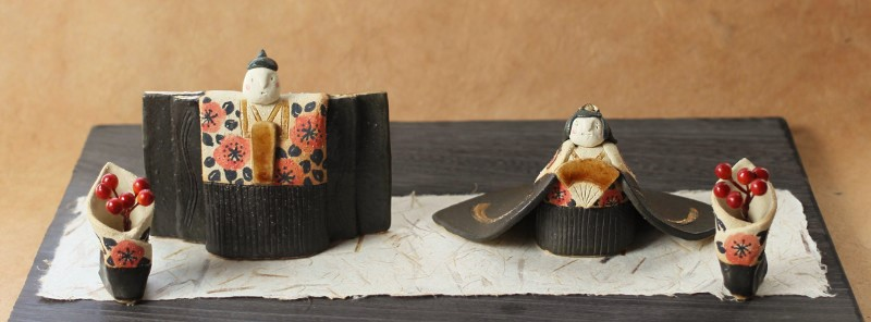 大人女性の 陶器のおひなさま 陶雛 ひな祭り お祝い 贈り物 桃の節句, セタカマチ:c0a3c47f --- bungsu.net