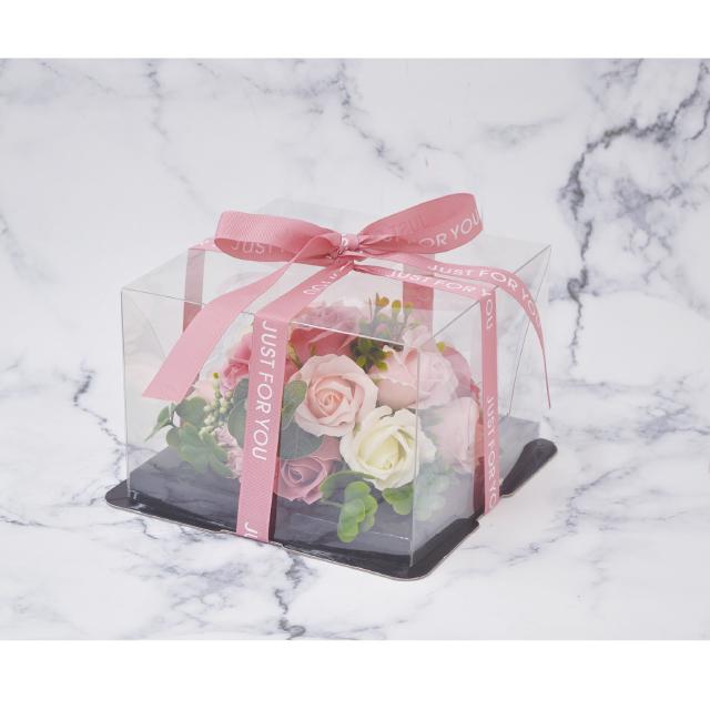 ケーキのようなアレンジシャボンフラワー※花と土台は接着されています シャボンフラワー ソープフラワー ピンクS-2800 PINK ミニフラワーケーキ (訳ありセール 格安) 格安 価格でご提供いたします