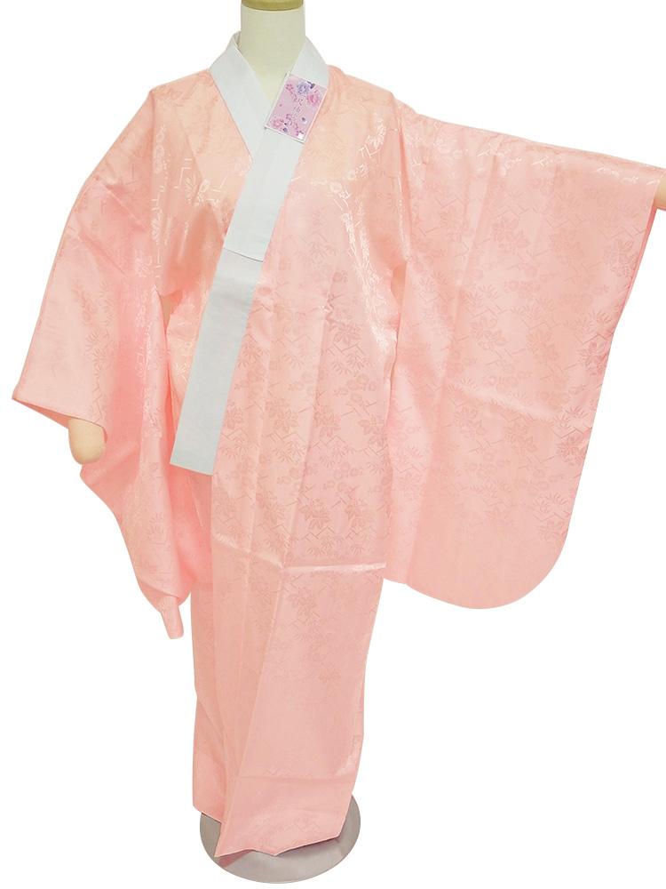 国際ブランド 二尺袖 襦袢 値引き セール 二尺袖着物用 お仕立て上がり 半衿付 長襦袢 ピンク np-40 F k サイズ M S L