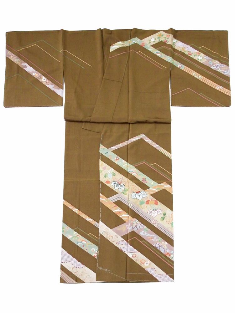 大好き お仕立て上がり 正絹 訪問着 着物 単品 身丈163.5cm sh-62, トリゴエムラ d7cfe7fb