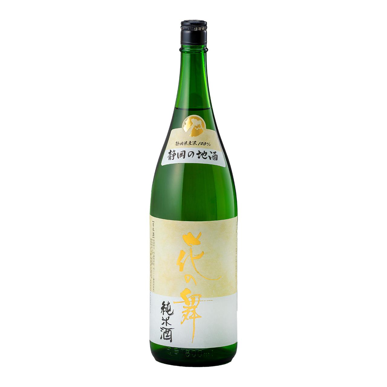 日本酒 花の舞 純米酒 送料無料 定番 贈与 金賞受賞蔵の静岡の地酒を 1800ml